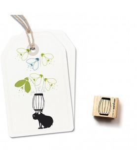 Mini tampon bois ''Vase''