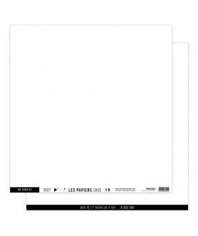 Papier Uni No 9 BLANC PUR